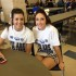 Juniors Casey Padgett and Cheyenne Wagner wear white to raise awareness for lung cancer.