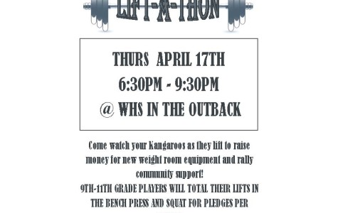 Roo Football To Hold Lift-A-Thon