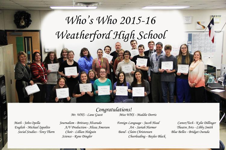 ILT+recognizes+WHS%27s+Who%27s+Who+of+the+Senior+Class+of+2016.