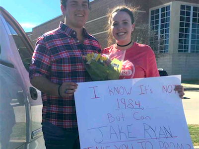 """I know it's not 1984, but can Jake Ryan take you to prom?"""