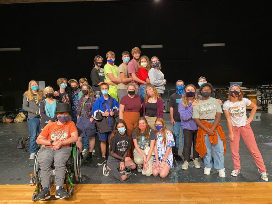 Most of the cast and crew of Almost, Maine