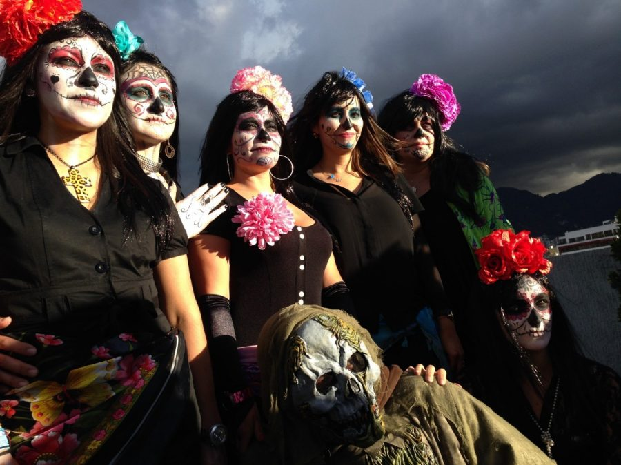 Group with La Catrina makeup