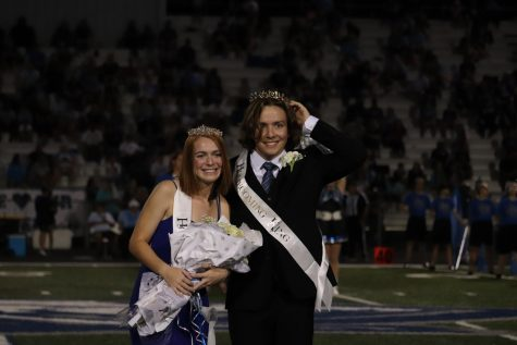 Homecoming Queen, Emma Wolfenberger and homecoming King Adison Feriend.
